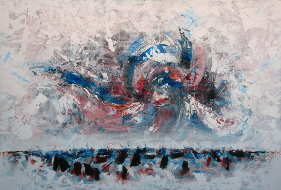 Time Outbreaking 2009 painting abstract acryl kunst dilemma time