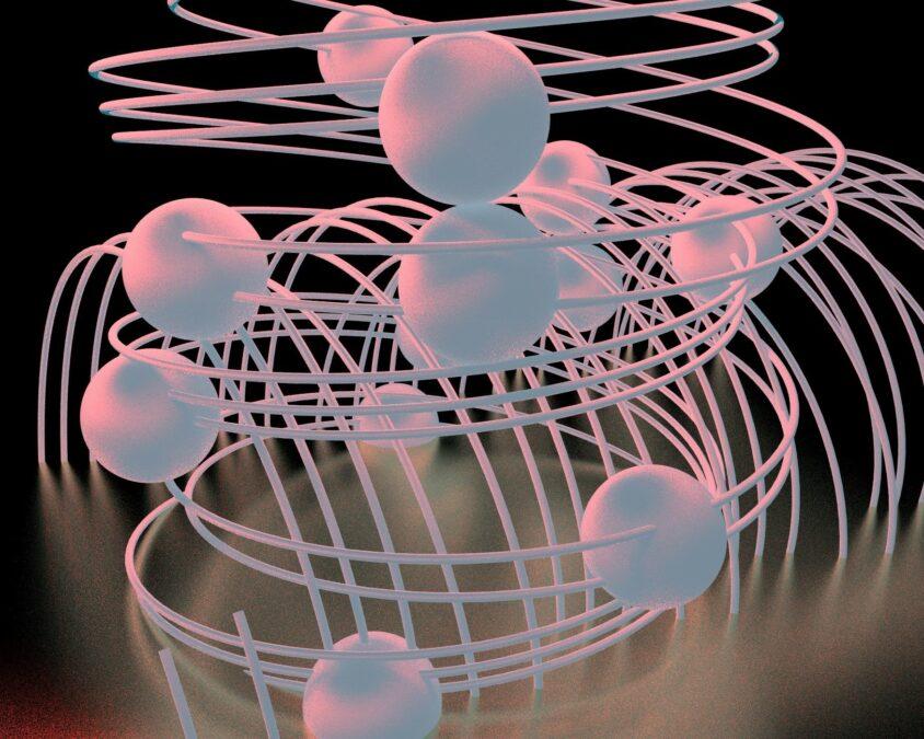 spherule multiplication digital vector pink