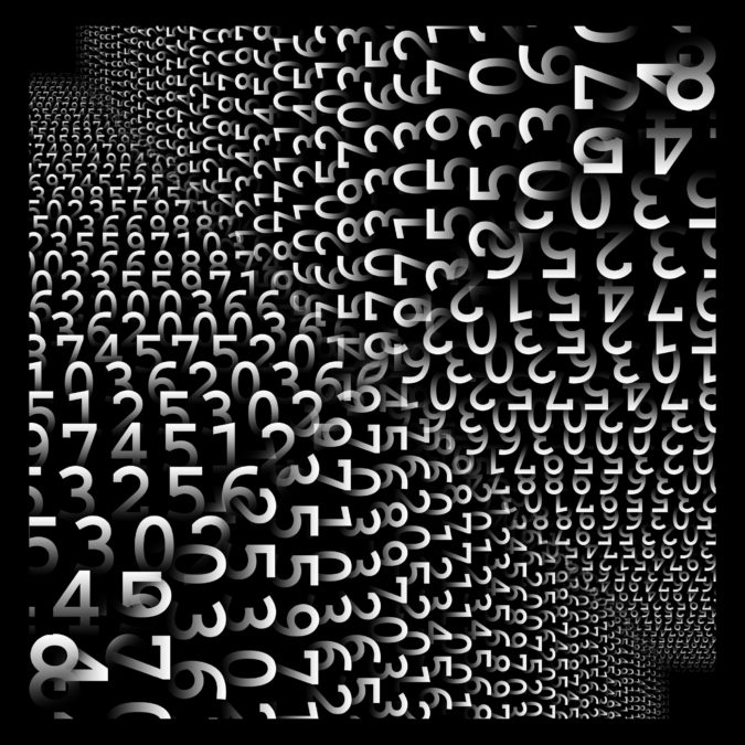 orientation 2016 digital numbers black and white abstract