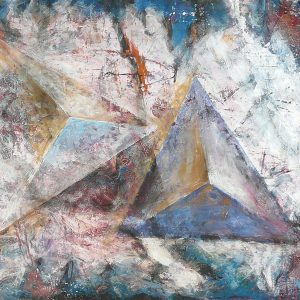 over pyramids detail 2009 painting canvas abstract