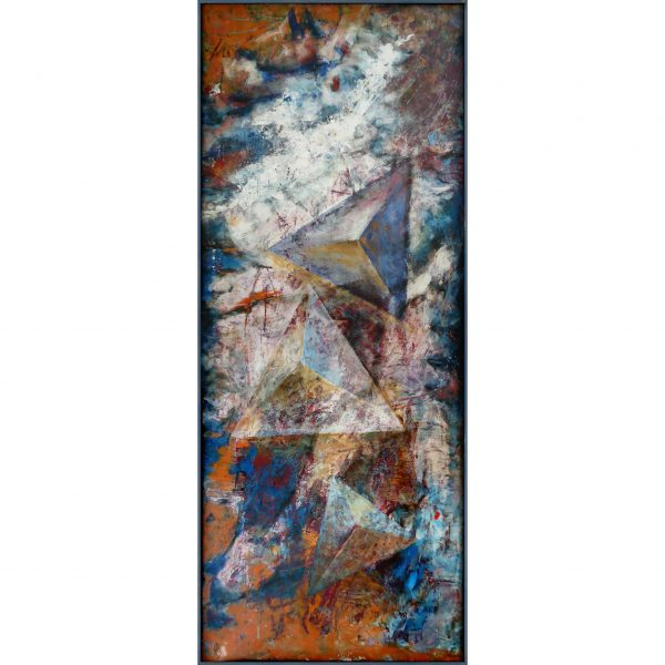 over pyramisds 2009 abstract filled primed acryl framed