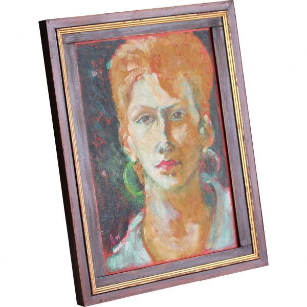 my girlfriend oil painting portrait canvas
