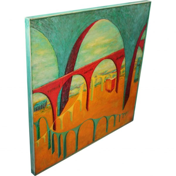 four bridges painting fantasy canvas oil