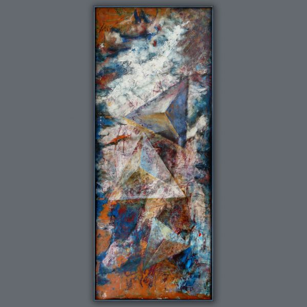 over pyramisds abstract filled primed acryl framed