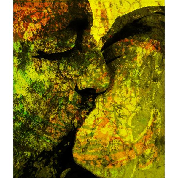 grafitti, kiss, yellow, fotography,