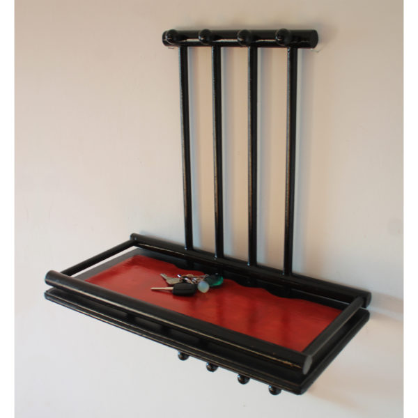 key storage wood black red