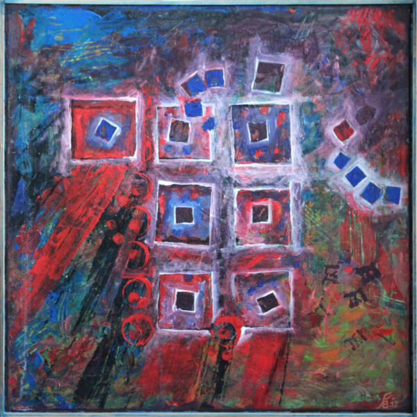 shared acryl painting abstract canvas 2012
